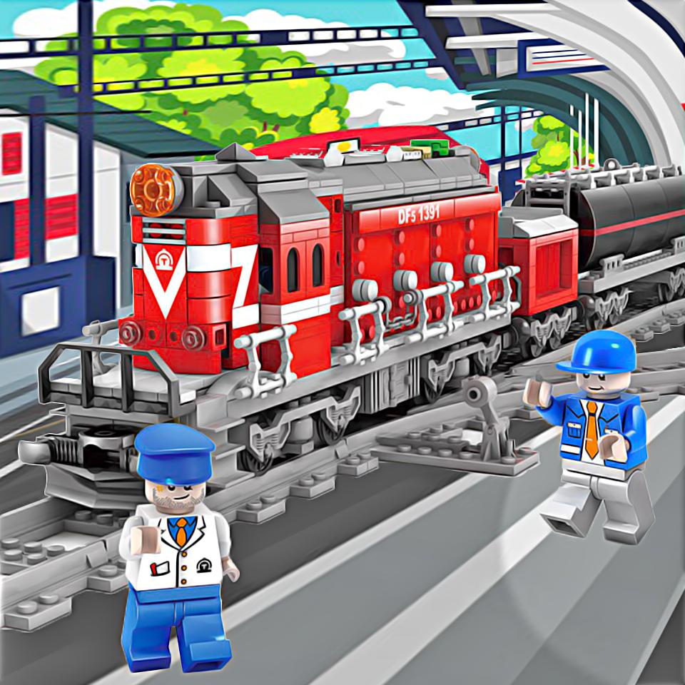 Конструктор Kazi 98250 Електричний потяг «Ферма»