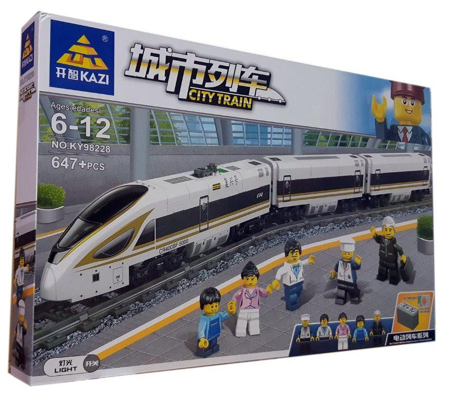 Конструктор Kazi 98228 «Скоростной пассажирский поезд»