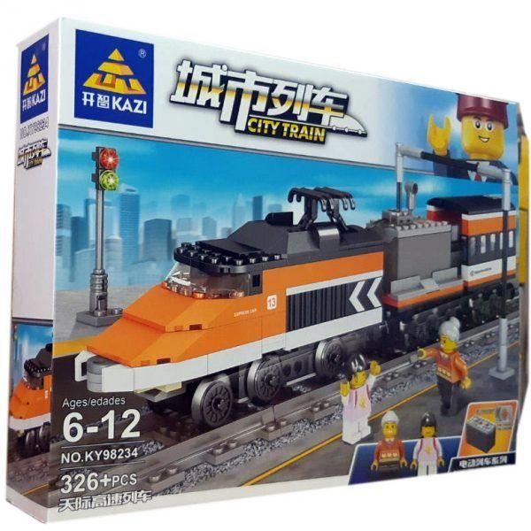 Конструктор Kazi 98234 «Пасажирський поїзд»
