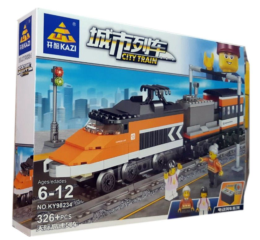 Конструктор Kazi 98234 «Пассажирский поезд»