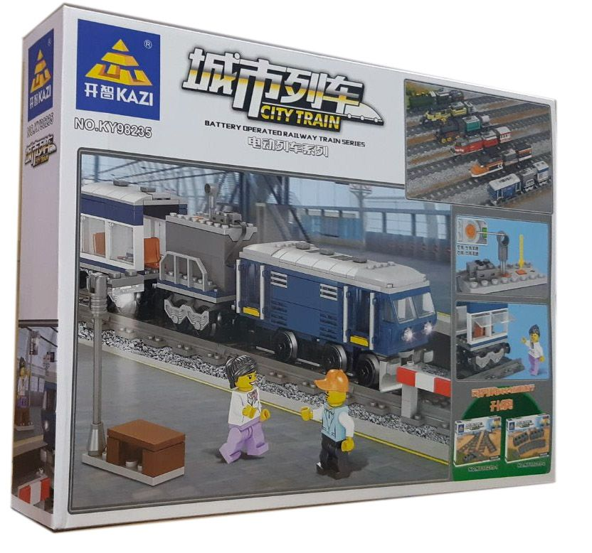 Конструктор Kazi 98235 «Пассажирский поезд»