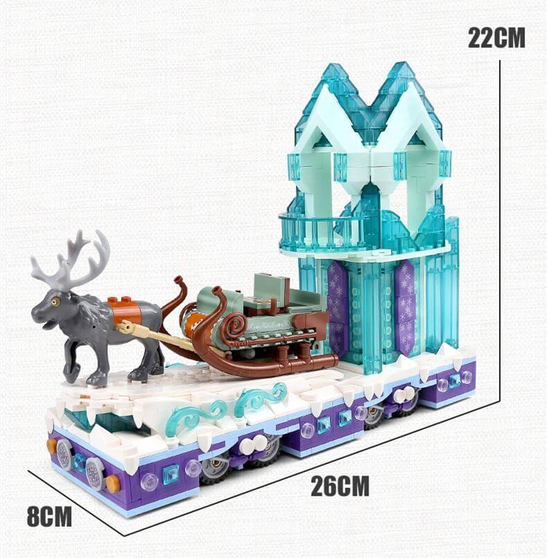 Конструктор MOLD KING 11002 Зимняя деревня и волшебные сани
