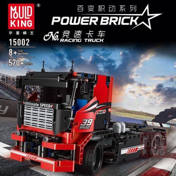 Конструктор MOULD KING 15002 The Red Racing Truck Красный гоночный грузововик  с ДУ
