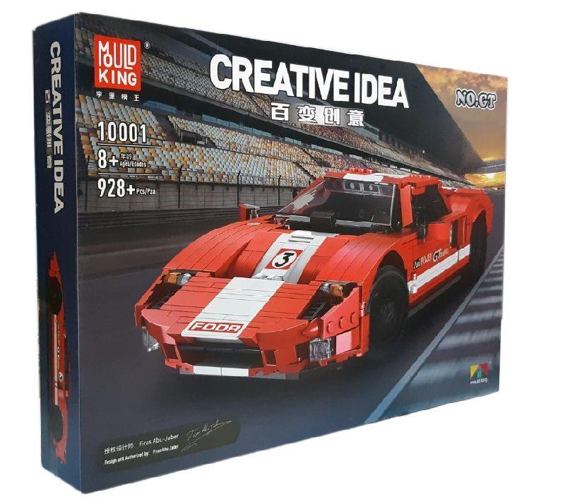 Конструктор Mould King 10001 Гоночний автомобіль Ford GTR Червоний Фантом