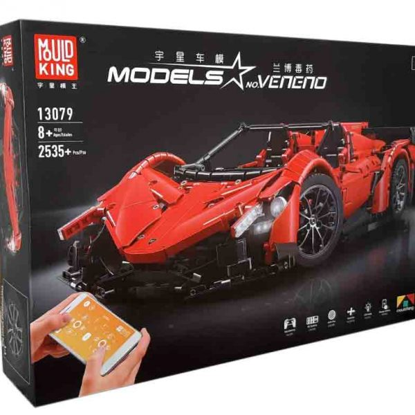 Конструктор MOULD KING 13079 Lamborghini Veneno Roadster з мотором
