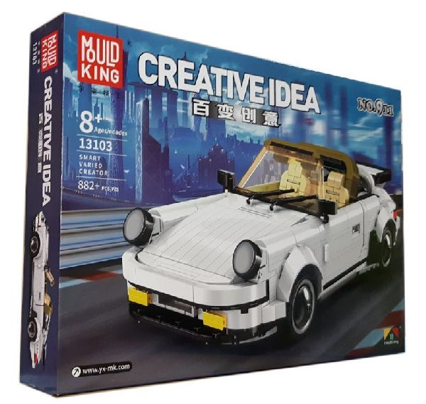 Конструктор Mould Kung Creative Idea 13103 «Спортивный автомобиль «White Porsche»