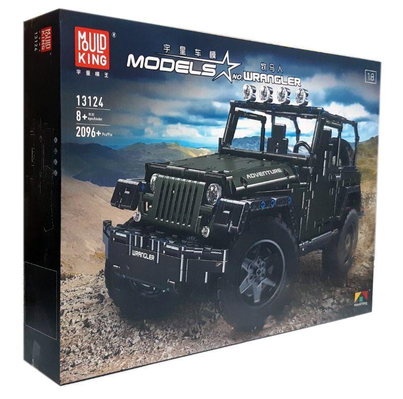 Конструктор MOULD KING 13124D «Позашляховик Jeep Wrangler», на радіоуправлінні