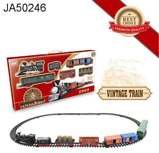 Железная дорога для детей HUASTAR 50246,  на батарейках,   30 деталей, свет, звук