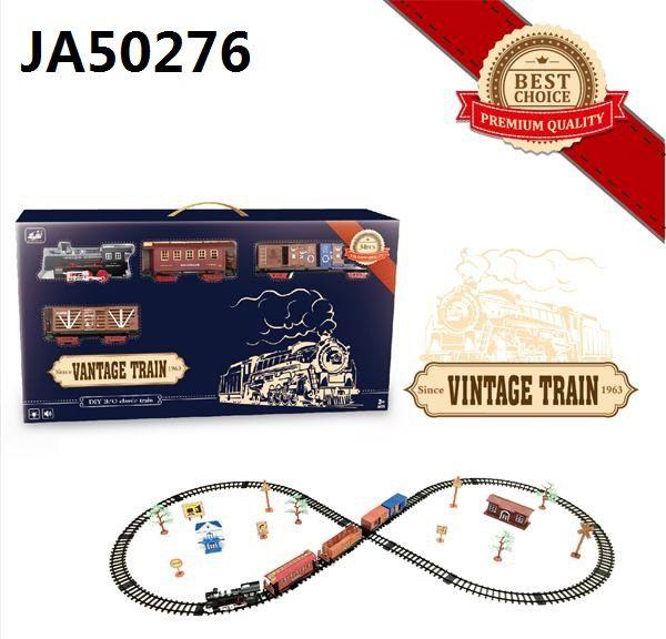 Залізниця HUASTAR 50276,  на батарейках,  36 деталей, світло, звук, для малюків