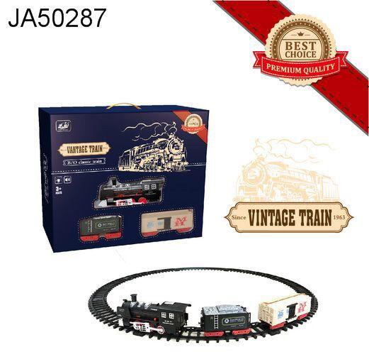 Залізниця для дітей HUASTAR 50287, на батарейках, 11 деталей, світло, звук