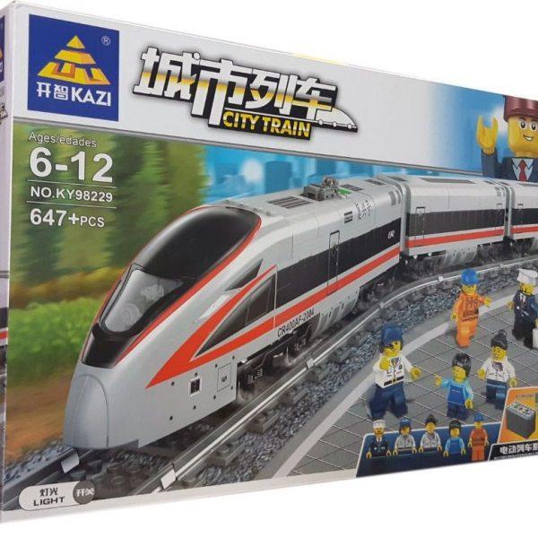Конструктор Kazi 98229 «Скоростной пассажирский поезд»