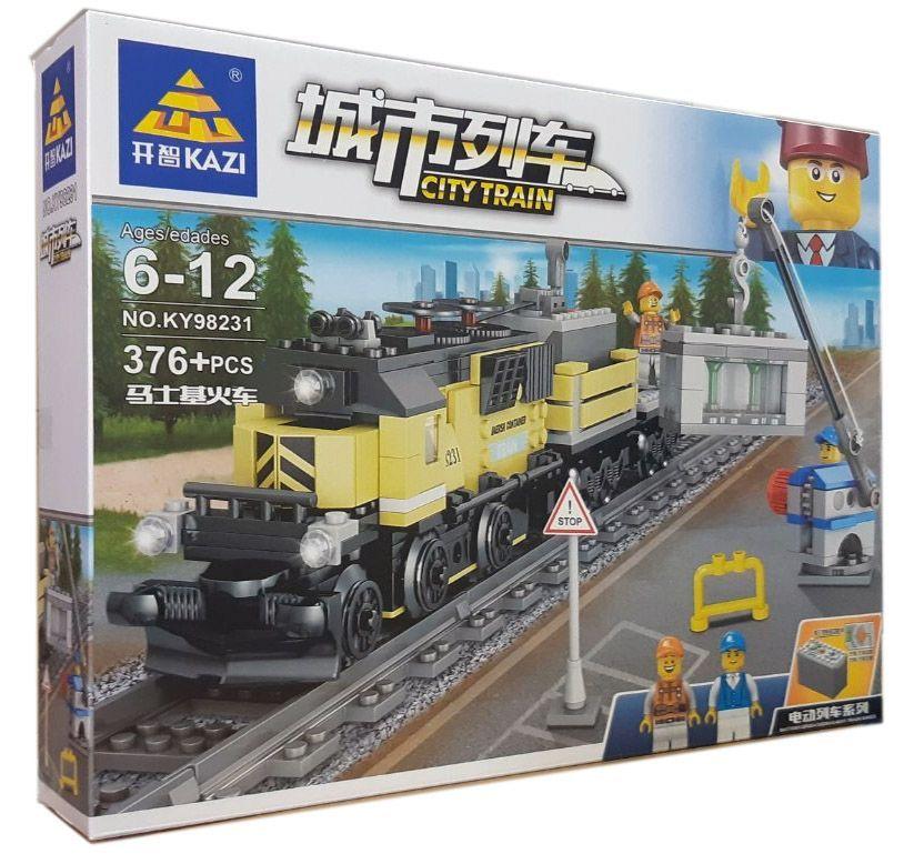 Конструктор Kazi 98231 «Грузовой поезд»
