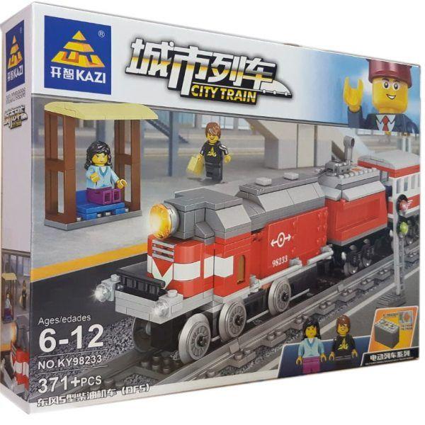 Конструктор Kazi 98233 «Пассажирский поезд»
