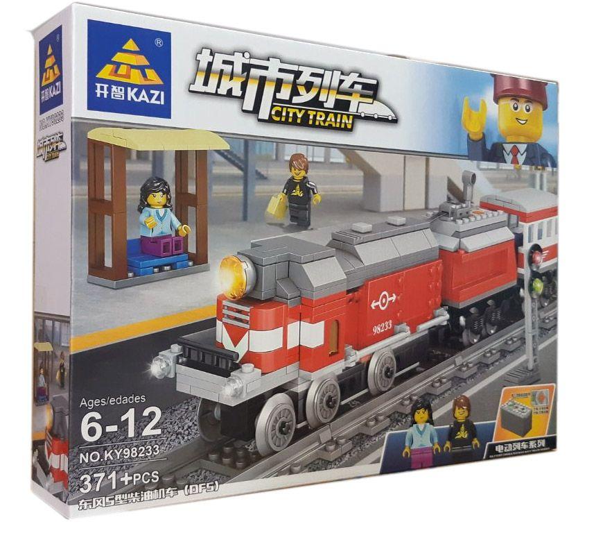 Конструктор Kazi 98233 «Пасажирський поїзд»
