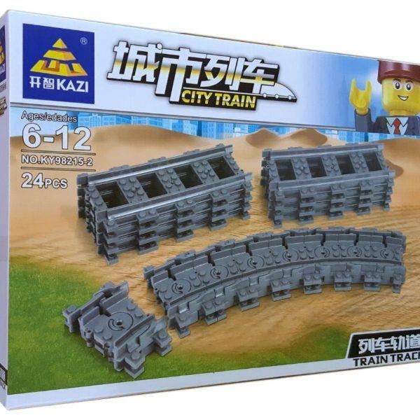 Конструктор Kazi 98215-2 «Гибкие пути (рельсы для поездов)»