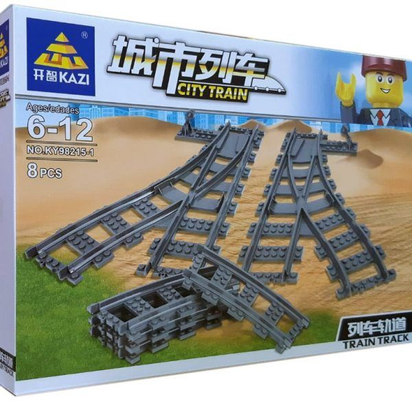 Конструктор Kazi 98215-1 «Железнодорожные стрелки»
