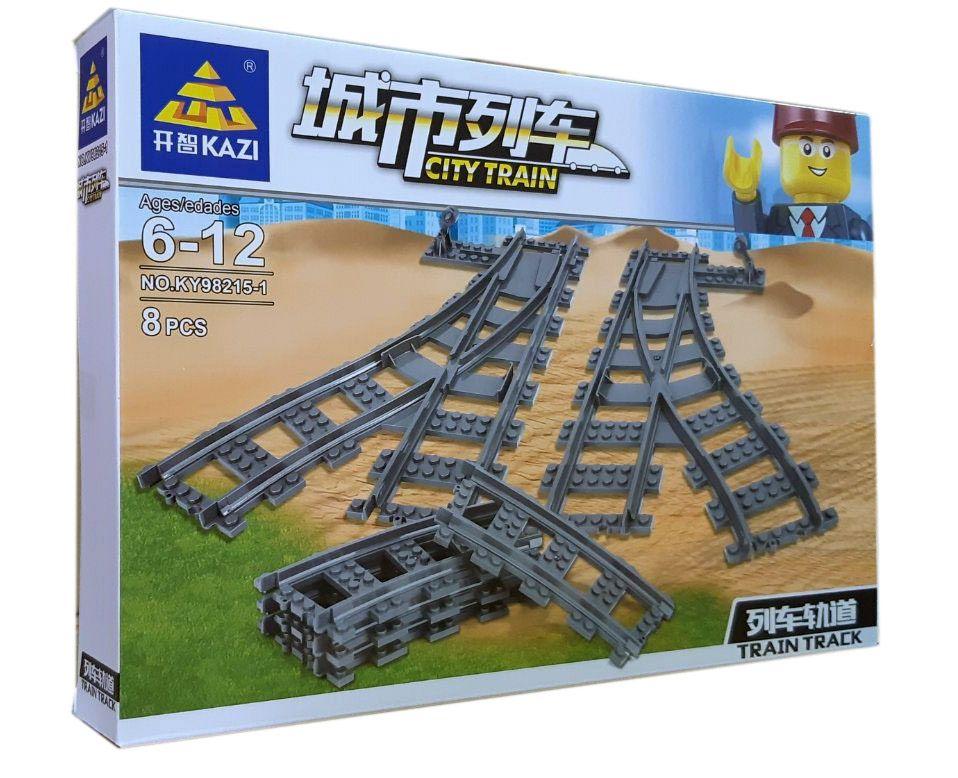 Конструктор Kazi 98215-1 «Залізничні стрілки»