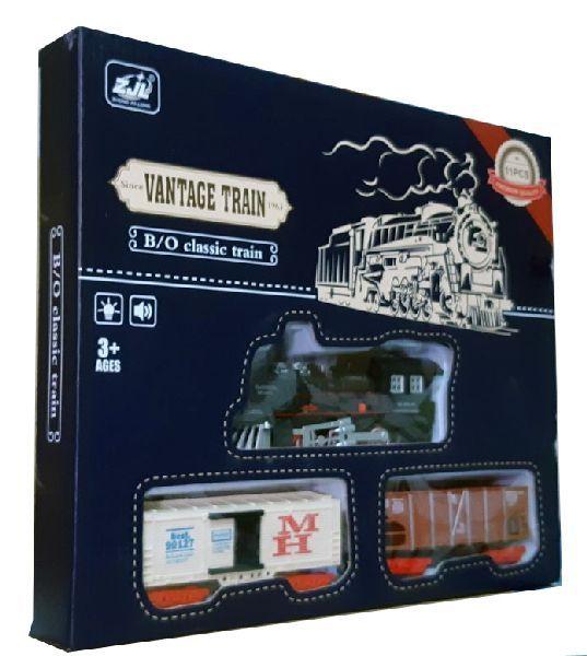 Залізниця HUASTAR 50239А,  на батарейках,   11 деталей, світло, звук, для малюків