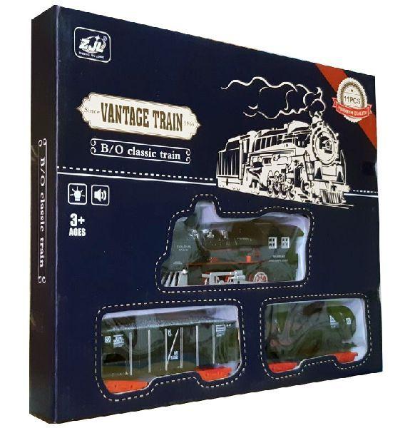 Железная дорога для детей HUASTAR 50239Б, на батарейках, 11 деталей, свет, звук