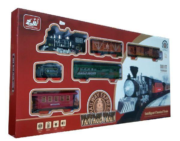 Железная дорога для детей HUASTAR 50241А, на батарейках, 20 деталей, свет, звук