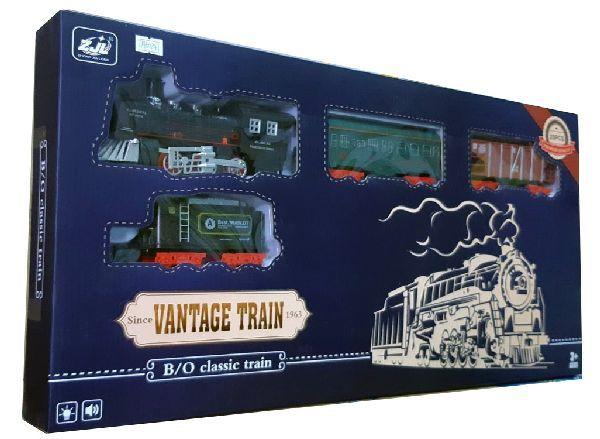 Дитяча залізниця HUASTAR 50241, на батарейках, 20 деталей, світло, звук