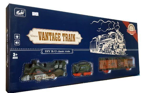 Железная дорога для детей HUASTAR 50243, на батарейках, 23 детали, свет, звук