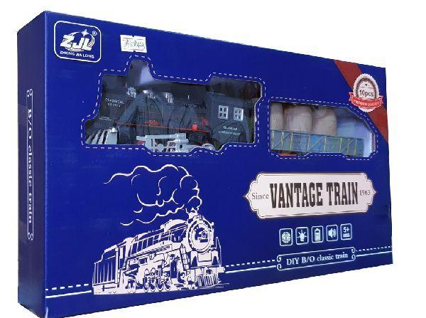 Железная дорога для детей HUASTAR 50244Б, на батарейках, 10 деталей, свет, звук