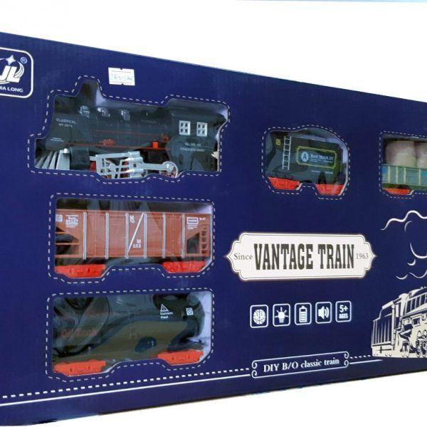Залізниця HUASTAR 50244С,  на батарейках,   10 деталей, світло, звук, для малюків