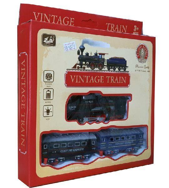Железная дорога HUASTAR 50277,  на батарейках,  13 деталей, дым, свет, для малышей