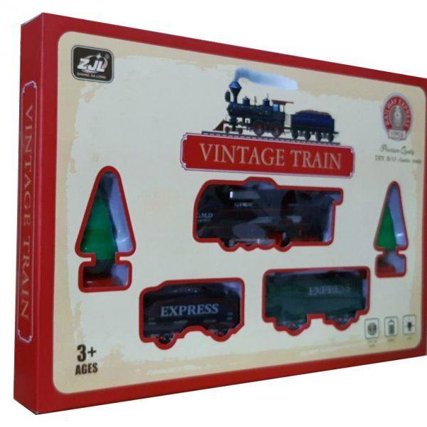 Залізниця для дітей HUASTAR 50278, на батарейках, 17 деталей, світло, звук