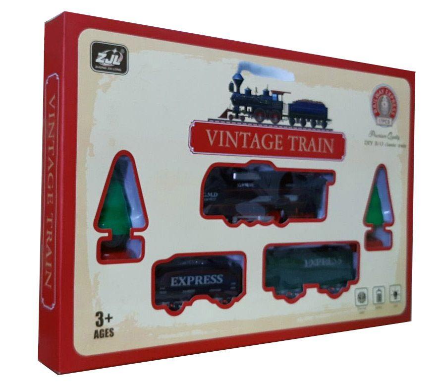 Железная дорога HUASTAR 50278,  на батарейках,  17 деталей, свет, для малышей