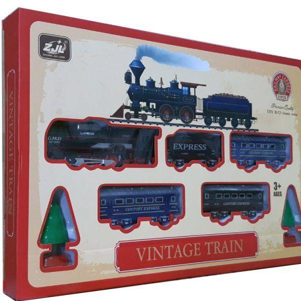 Залізниця для дітей HUASTAR 50279, на батарейках, 21 деталь, світло, звук