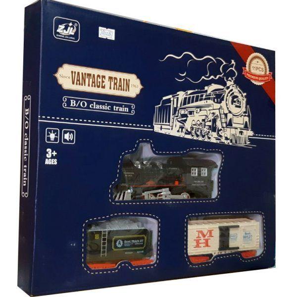 Железная дорога HUASTAR 50287,  на батарейках,  11 деталей, свет, звук, для малышей