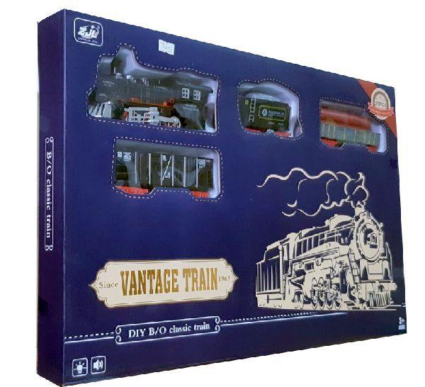 Железная дорога для детей HUASTAR 50290, на батарейках, 25 деталей, свет, звук