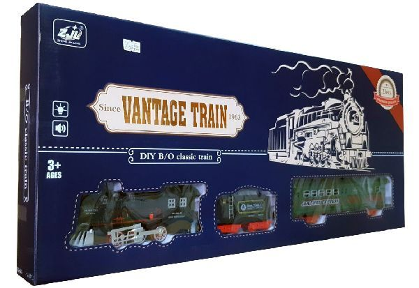 Железная дорога HUASTAR 50292А,  на батарейках,  23 детали, свет, звук, для малышей