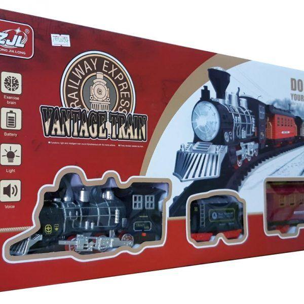 Залізниця для дітей HUASTAR 50294, 23 детали, на батарейках, свет, звук