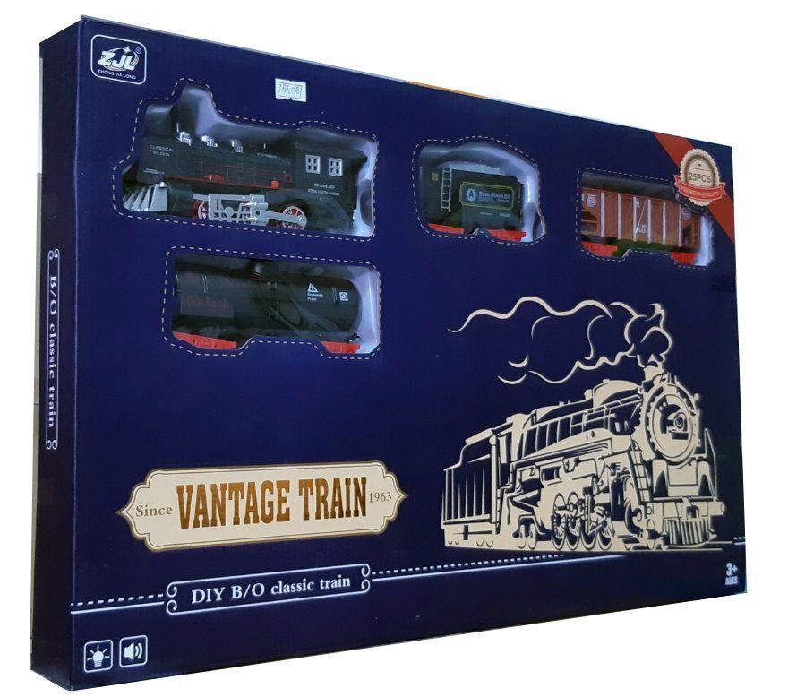 Залізниця для дітей HUASTAR 50781, на батарейках, світло, звук