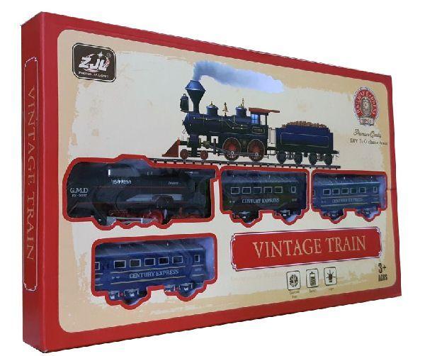 Железная дорога для детей HUASTAR 50783А, 18 деталей, на батарейках, свет, звук