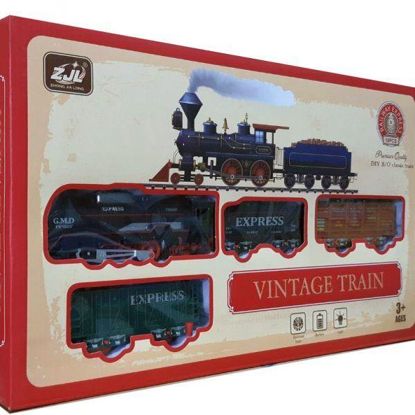 Железная дорога HUASTAR 50783,  18 деталей, на батарейках,  свет, дым, для малышей