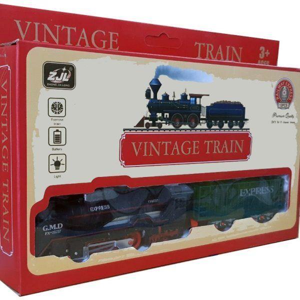 Залізниця для дітей HUASTAR 50784, 12 деталей, на батарейках,  світло, звук