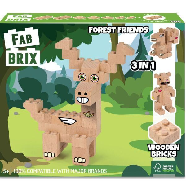 Конструктор FabBRIX JG 1809 Friends (Лесные  друзья)