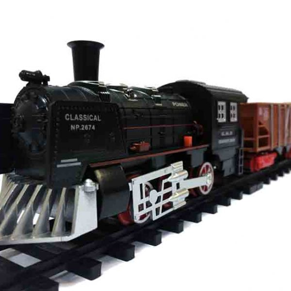 Железная дорога для детей HUASTAR 50239А, на батарейках, 11 деталей, свет, звук