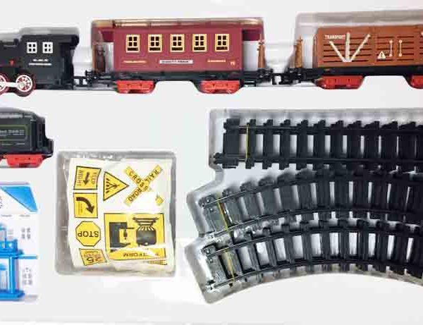 Залізниця для дітей HUASTAR 50243А, на батарейках, 23 деталі, світло, звук