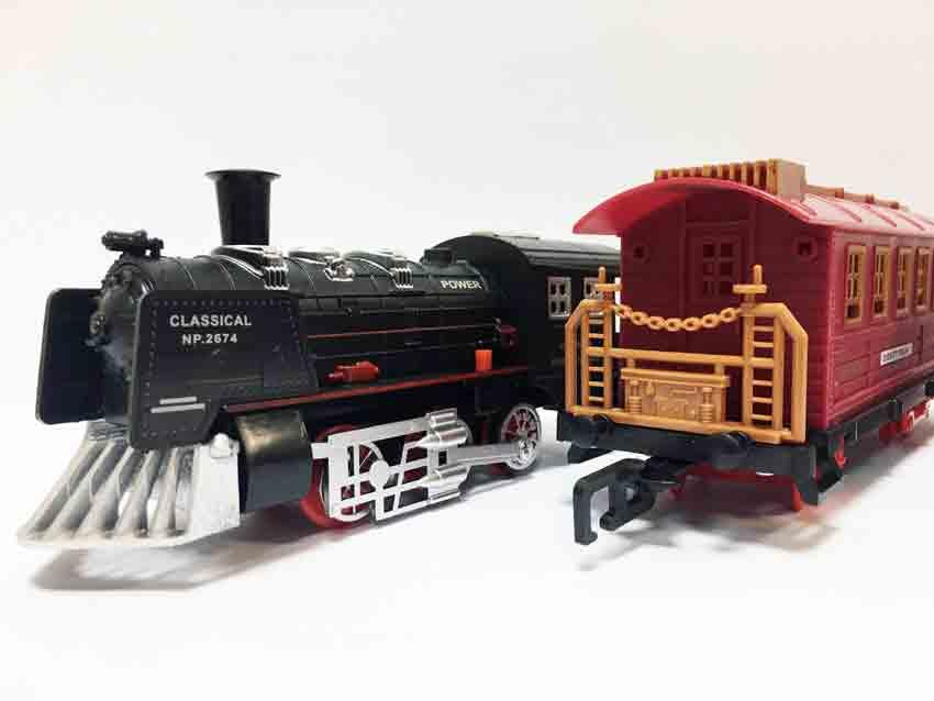 Железная дорога для детей HUASTAR 50243А, на батарейках, 23 детали, свет, звук