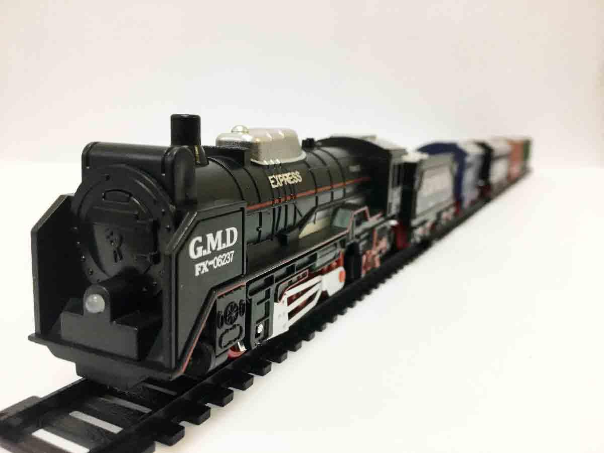Залізниця для дітей HUASTAR 50252, на батарейках, 33 деталі, світло, звук