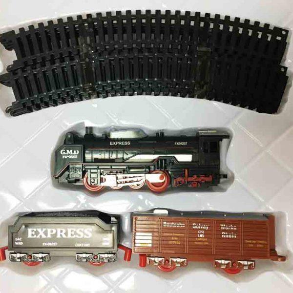 Железная дорога для детей HUASTAR 50275,  на батарейках,  13 деталей, свет