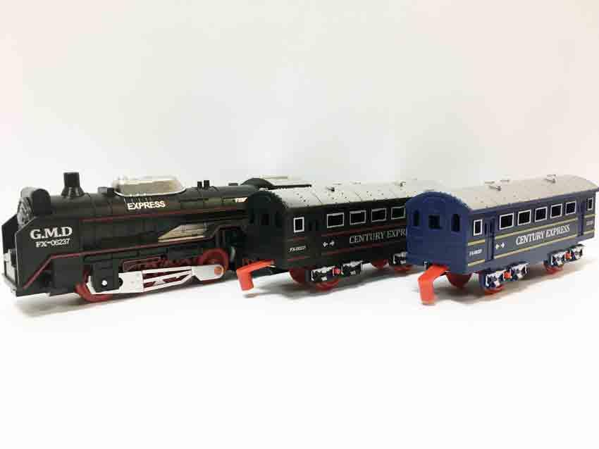 Залізниця для дітей HUASTAR 50277, на батарейках, 13 деталей, світло, звук