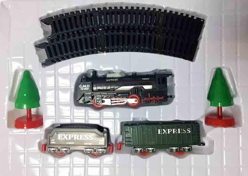 Железная дорога для детей HUASTAR 50278, на батарейках, 17 деталей, свет, звук
