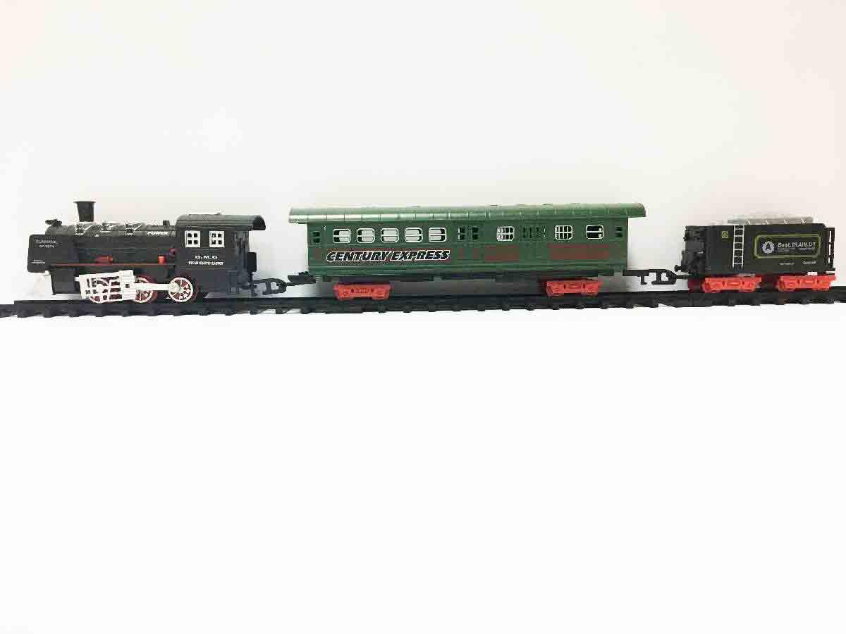 Железная дорога для детей HUASTAR 50292А,  на батарейках,  23 детали, свет, звук