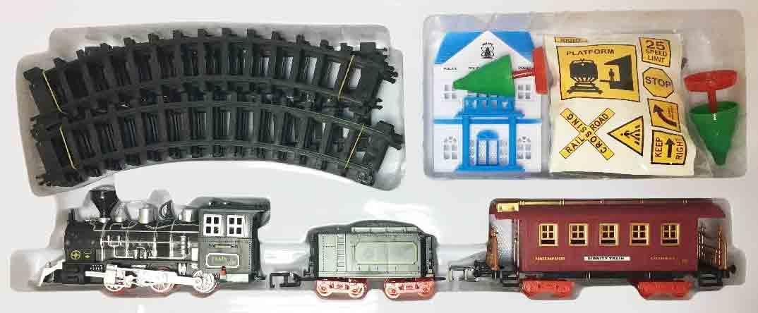 Железная дорога для детей HUASTAR 50294,  23 детали, на батарейках,  свет, звук